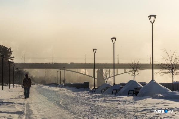 На новосибирца напали во время сильных морозов в начале января