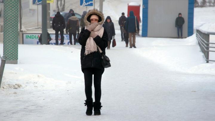 Омские синоптики снова прогнозируют 30-градусные морозы