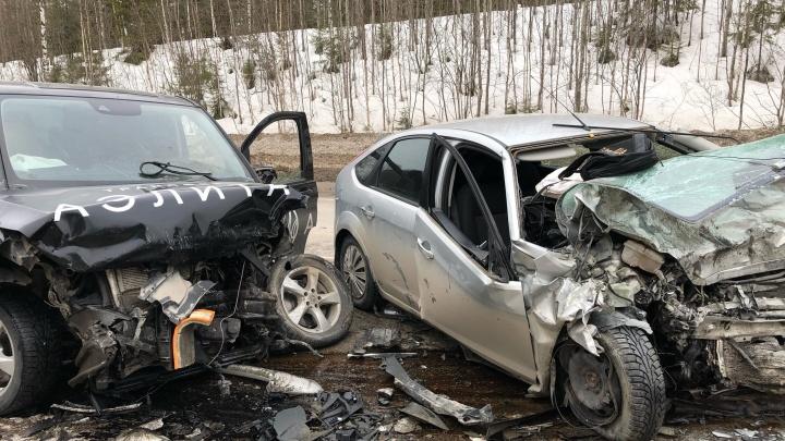 В массовой аварии на трассе Пермь — Березники пострадали четыре человека