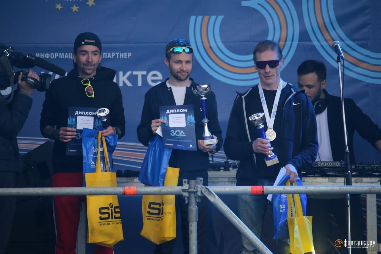 Победители на дистанции 21,1 км (полумарафон)<br /><br />автор фото Андрей Бессонов / «Фонтанка.ру»
