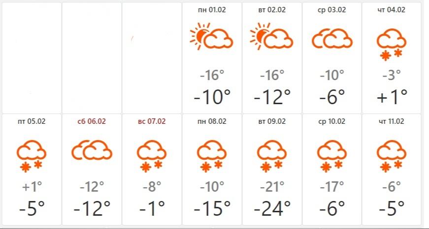 В начале февраля могут быть даже плюсовые температуры