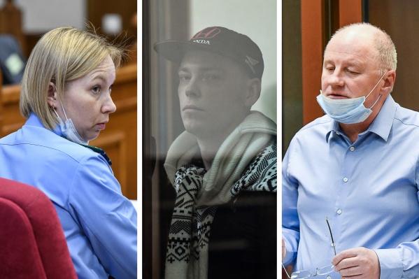 Адвокат Игорь Упоров (справа) ходатайствовал об исключении части доказательств, но судья отказал ему
