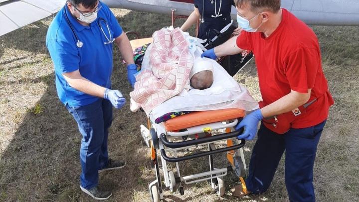 Всё тело в ожогах. В больницу Екатеринбурга привезли 3-летнюю Алену, выжившую в жутком ДТП под Саратовом