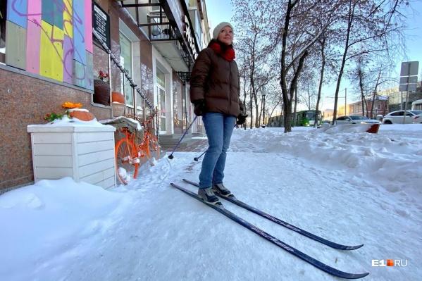 «Это не техника дошла, это я сама сюда дошла, на лыжах»