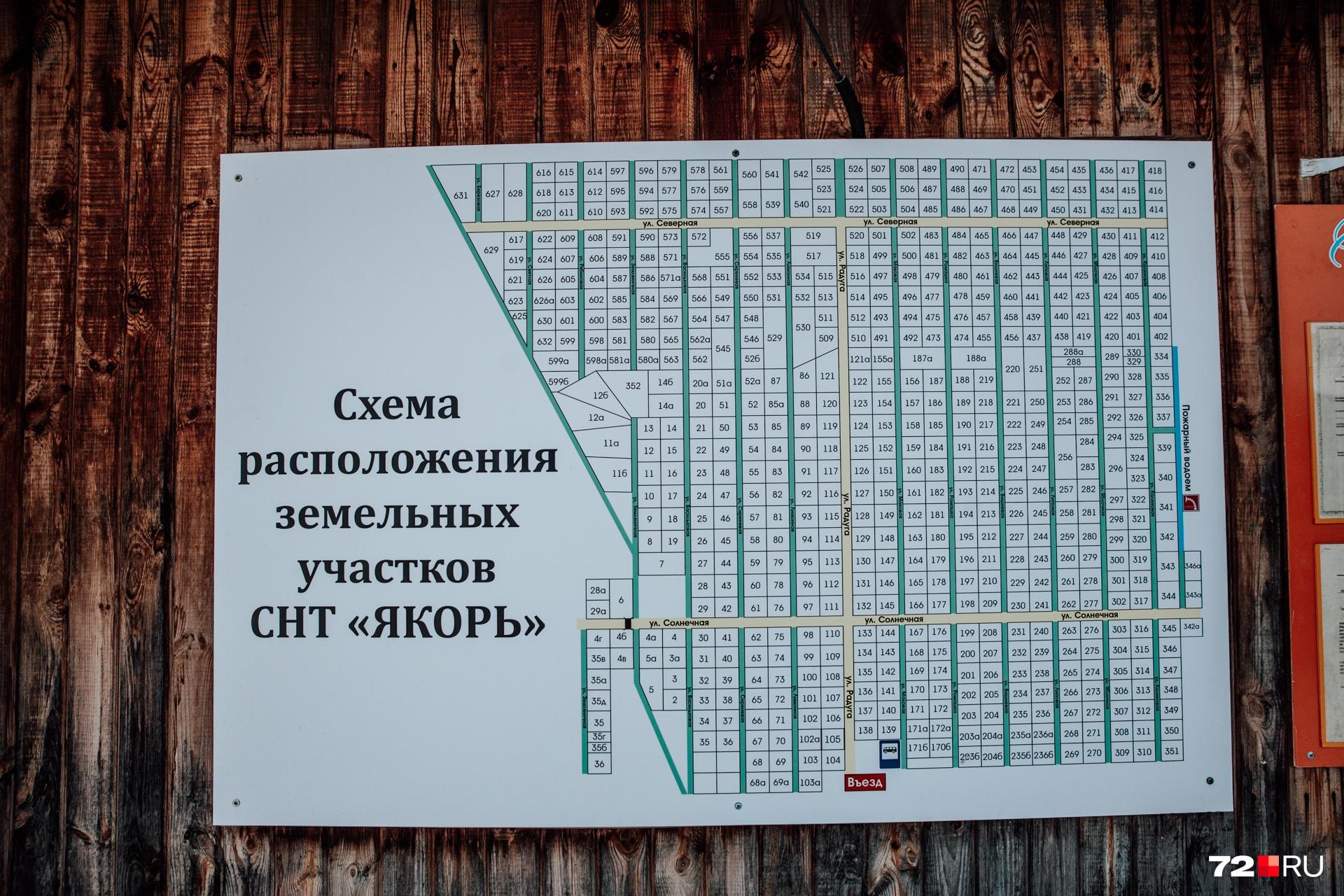 """По информации правления, в СНТ «Якорь» проживает около <nobr class=""""_"""">600 семей</nobr>"""