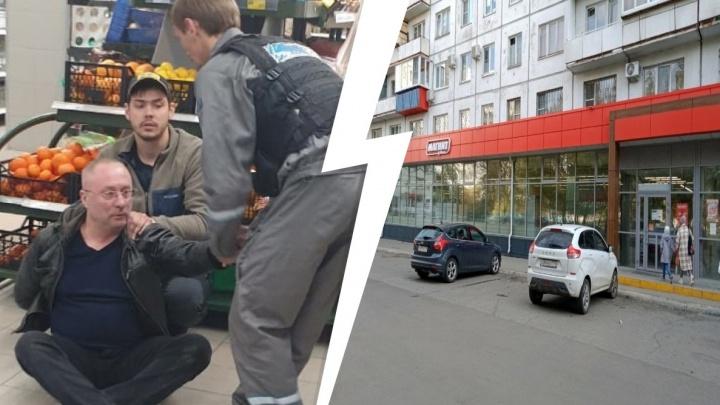 В челябинском магазине молодой посетитель скрутил преступника, напавшего спистолетом накассира