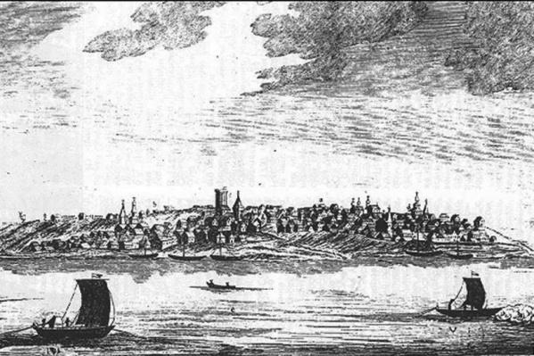 Вот так, по мнению ученых Самарского университета, выглядел берег Волги у Самары. И это была окраина империи