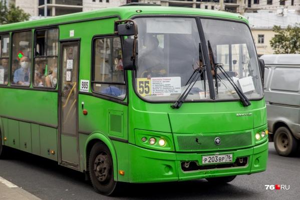 """В Ярославле на маршруте <nobr class=""""_"""">№ 55</nobr> сменили перевозчика"""