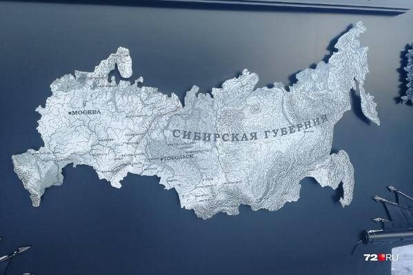 Историческая карта появилась на Плацпарадной площади в Тобольске