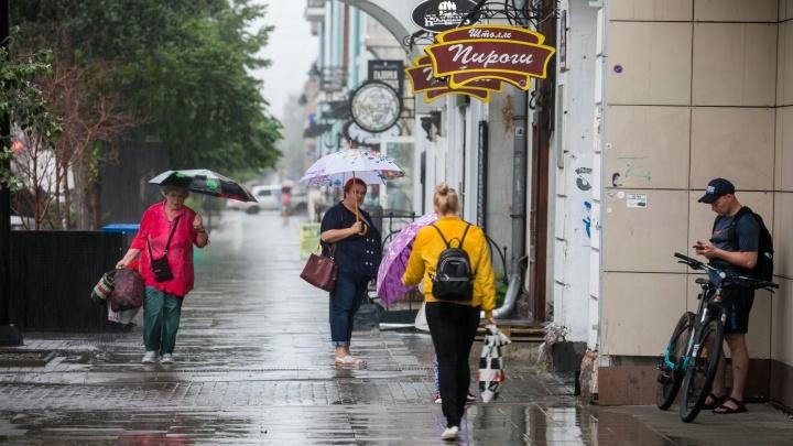 На смену зною на выходных в Красноярск придут прохлада и дожди