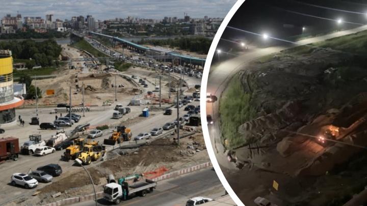 Мэр Новосибирска заявил, что ночные шумные работы на площади Лыщинского не остановят, — перед жителями извинились
