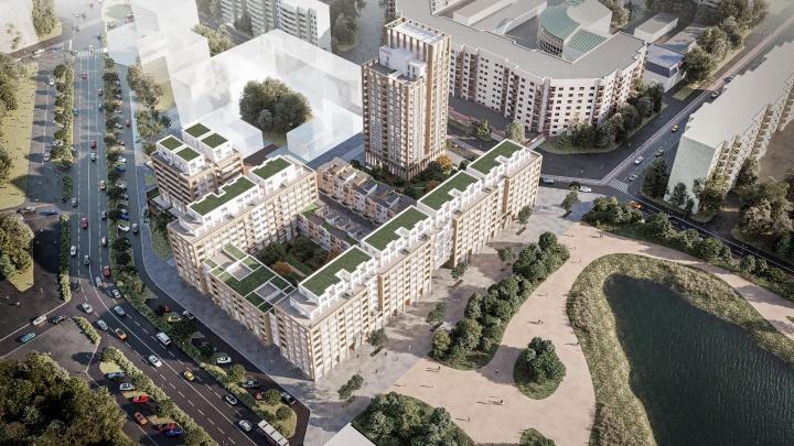 Таунхаусы в городе: Брусника построит экспериментальный Дом у озера