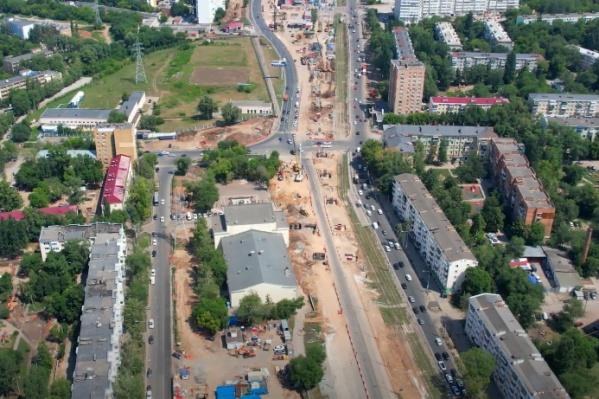 Движение на участке продолжается по дублеру Ново-Садовой