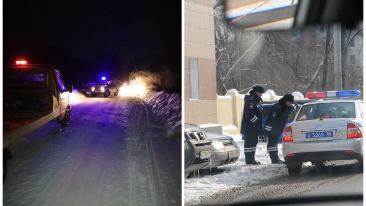 В Серове подросток купил машину, устроил погоню и врезался в патрульный автомобиль