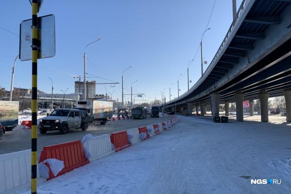 Развязка на площади Будагова