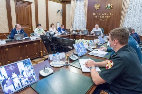 Заседаниемежведомственного оперативного штаба по ликвидации чрезвычайной ситуации в лесах