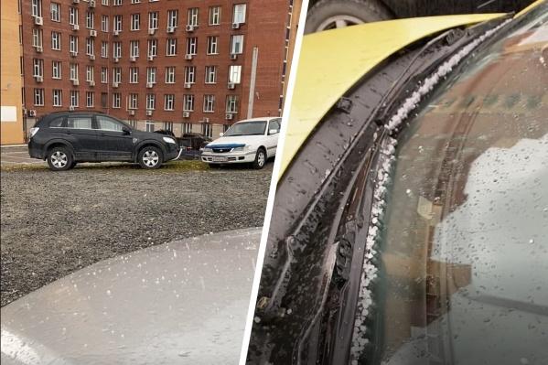 Снежную крупу видели сегодня в Академгородке