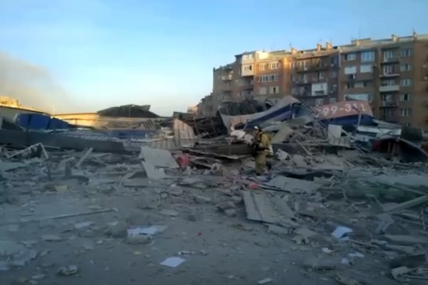 Взрыв уничтожил продуктовый магазин