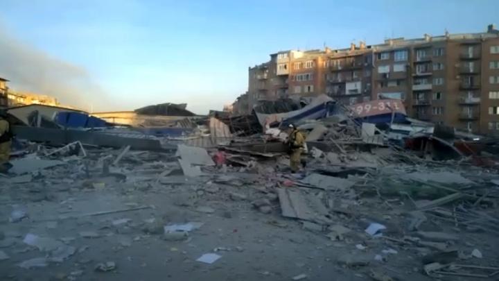 Во Владикавказе взрыв разрушил трехэтажный супермаркет: видео