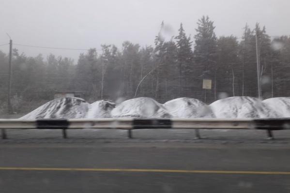 Снег сегодня вечером выпал в районе Златоуста