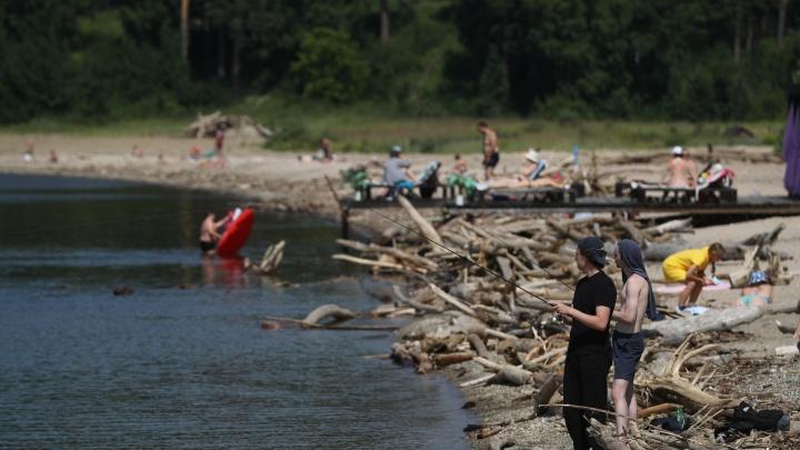 Купаются и ловят рыбу: новосибирцев не остановил прорыв канализации — фото с места аварии и пляжа