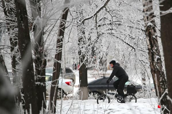 Следующие три дня Башкирию ожидает снег, гололедица и мороз