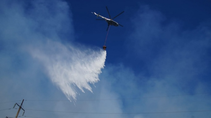 На тушение пожара в Борском районе хотят отправить еще 3 самолета