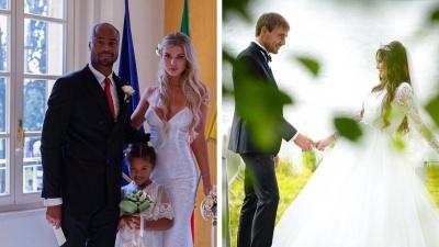 Церемония в Лас-Вегасе и костюмы вместо платья. Как играли свадьбы известные тюменцы