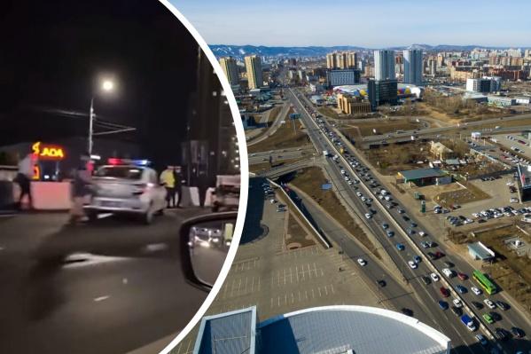 Авария произошла в темное время суток на Партизана Железняка