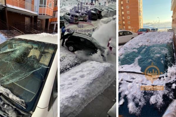 Выяснили, что говорят про помятые снегом машины в управляющих компаниях