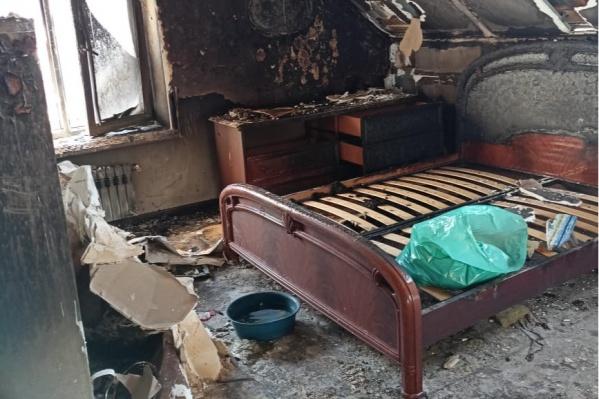 Пожар произошел в частном доме в поселке Алексеевка