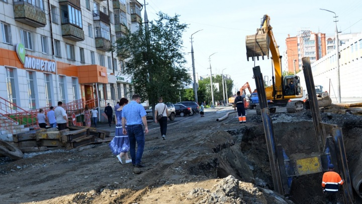 В Кургане после ремонта коллектора будут приводить в порядок улицу Куйбышева