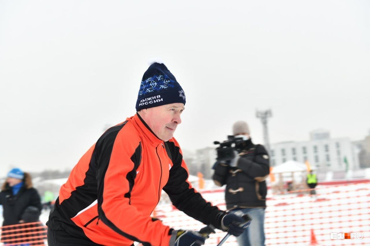 Принял участие в гонке и новый мэр Екатеринбурга Алексей Орлов