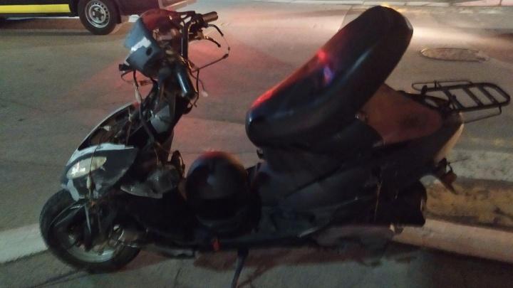 В Кургане двое водителей мототранспорта попали в ДТП