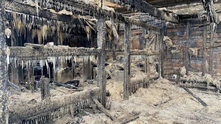 В ночном пожаре на лесопилке погибли двое человек