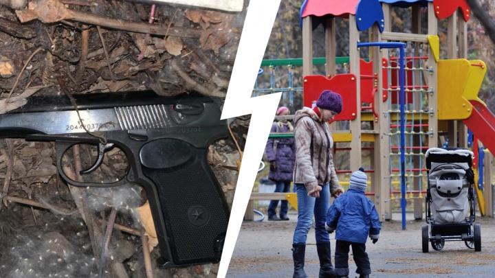 В Кольцово пьяный начальник строительного участка открыл огонь на детской площадке