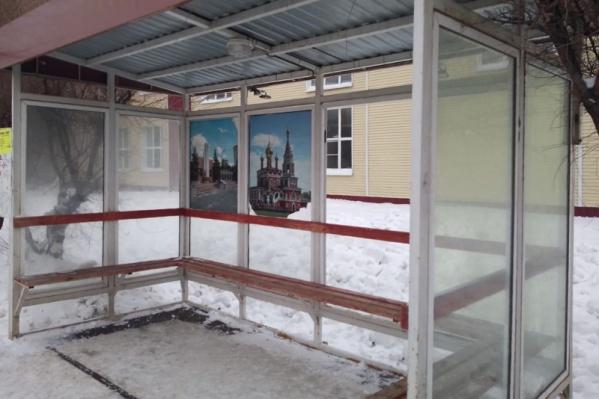 Стекло остановки возле ТРЦ «РИО» разбили в январе этого года
