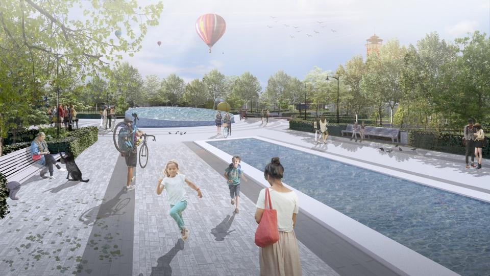 Волгоградцам пообещали сеть водоемов и фонтан
