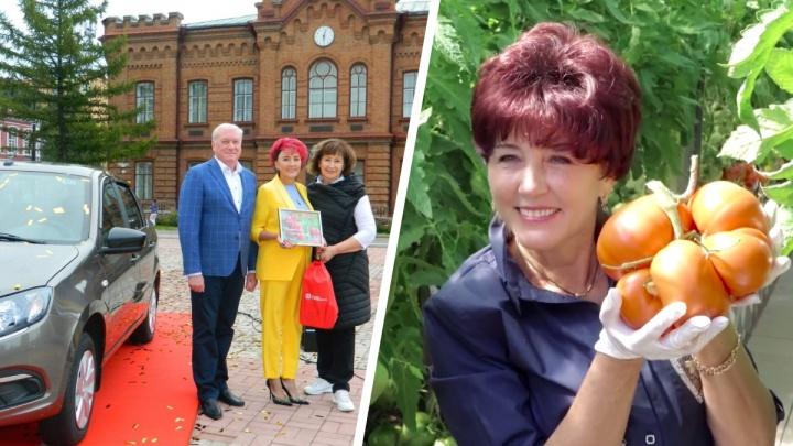 Блогер из Минусинска получила Lada Granta за помидор весом 2,27 кг