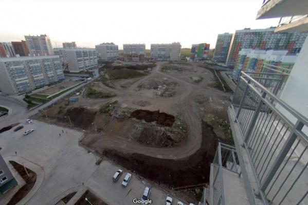"""Место под будущую школу в районе <nobr class=""""_"""">3-го микрорайона</nobr> Солнечного"""