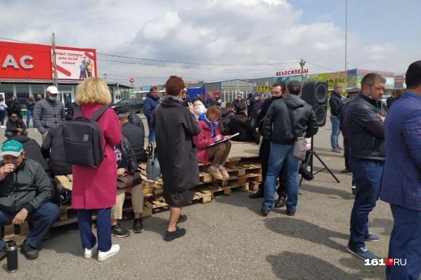 Торговцы собрали стихийный митинг