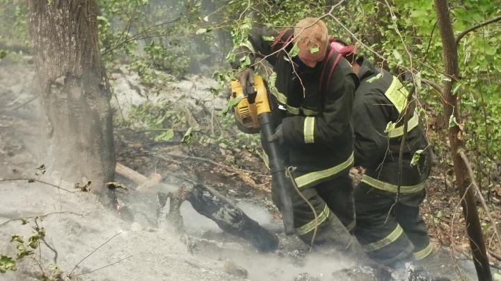 Чиновники прокомментировали пожар на шихане Юрактау в Башкирии