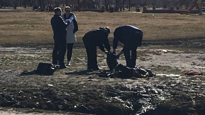 Установлена личность женщины, чье тело нашли в луже в Заречном парке. Она жила напротив