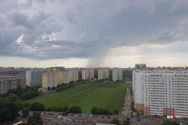 Туча над Краснодаром в июне 2021 года