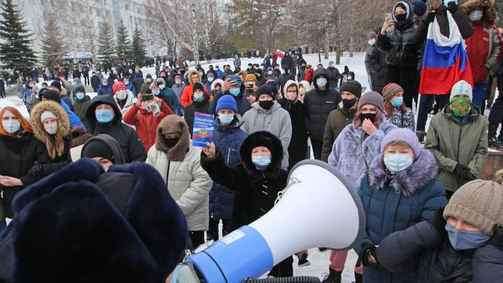 Как в Уфе прошли протесты в поддержку Навального. Показываем в одном видео
