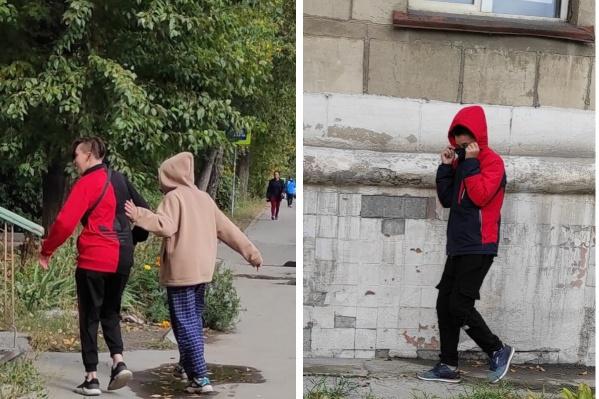 Подростки разбежались, когда их начали снимать на телефон