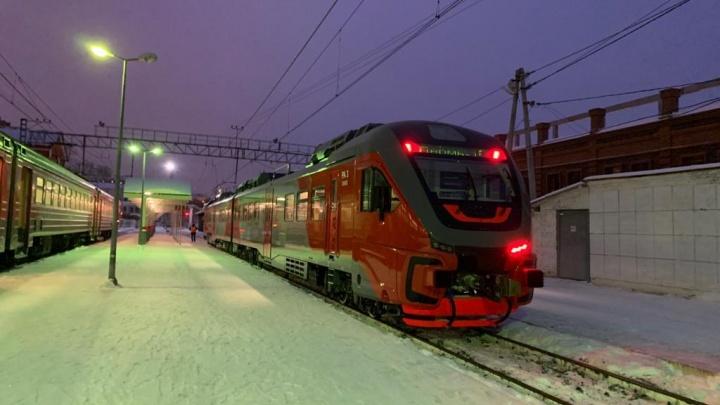 Из Перми в Лысьву запустили рельсовый автобус нового поколения