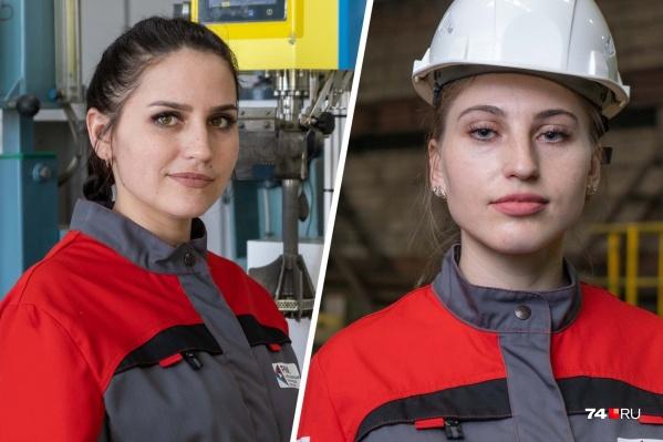 Таня (слева) и Тоня (справа) работают в горно-рудной компании, недалеко от Магнитогорска