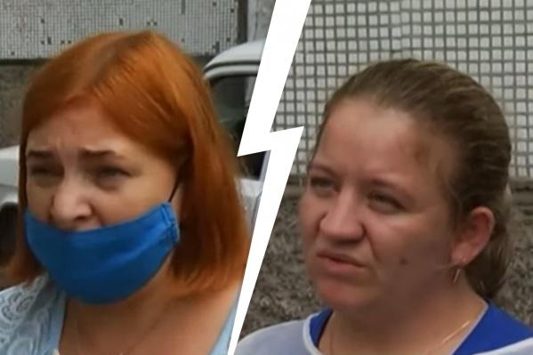 Слева — пациентка, справа — медсестра