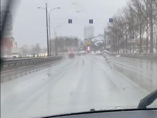 В Екатеринбурге в начале февраля пошел дождь